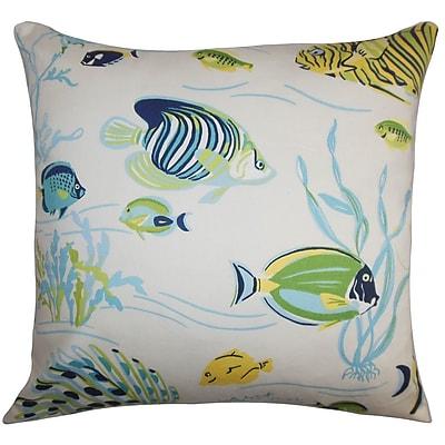 The Pillow Collection Niju Coastal Cotton Throw Pillow Cover; 20'' x 20''