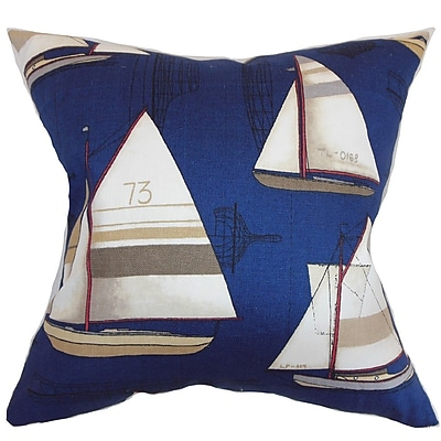 The Pillow Collection Hemavan Nautical Cotton Throw Pillow Cover; 20'' x 20''