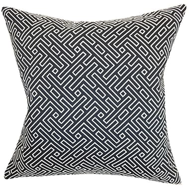 The Pillow Collection Ocussi Geometric Throw Pillow Cover; 18'' x 18''