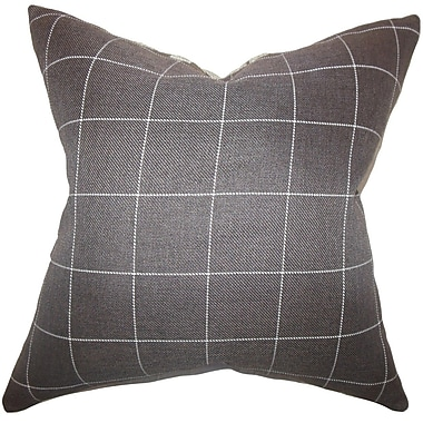 The Pillow Collection Ivo Plaid Throw Pillow Cover; 18'' x 18''