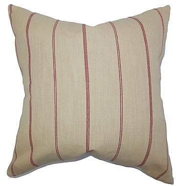 The Pillow Collection Fairfax Stripes Throw Pillow Cover; 18'' x 18''