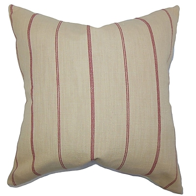 The Pillow Collection Fairfax Stripes Throw Pillow Cover; 20'' x 20''