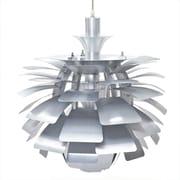 MacerHomeDecor Artichoke 1 Light Geometric Pendant; Silver