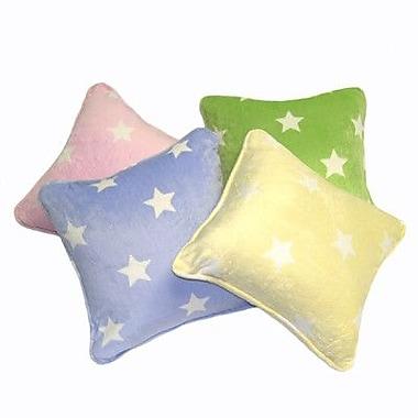 Satin Mill Gom Velboa Star Throw Pillow; Pink