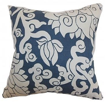 The Pillow Collection Erdenet Floral Throw Pillow Cover; 18'' x 18''