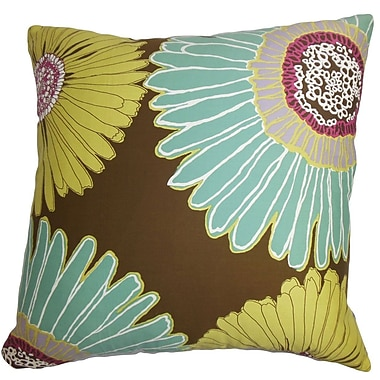 The Pillow Collection Indrina Floral Cotton Throw Pillow Cover; 20'' x 20''