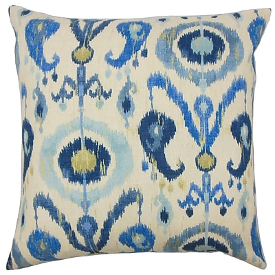 The Pillow Collection Abital Ikat Cotton Throw Pillow Cover; 20'' x 20''