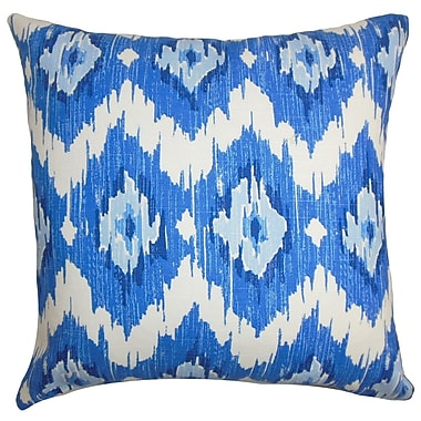 The Pillow Collection Ulrike Ikat Cotton Throw Pillow Cover; 20'' x 20''