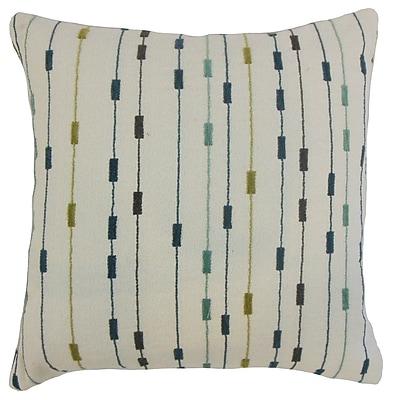 The Pillow Collection Ancelin Stripes Throw Pillow Cover; 18'' x 18''