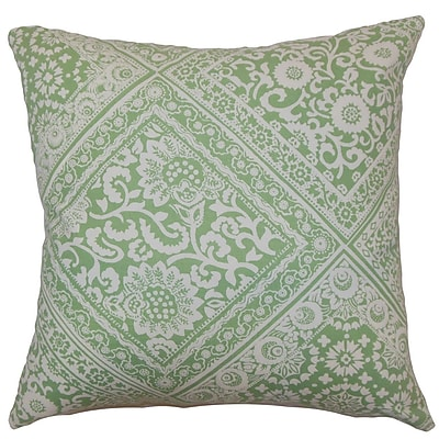 The Pillow Collection Kayea Floral Cotton Throw Pillow Cover; 18'' x 18''