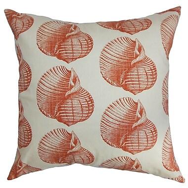 The Pillow Collection Bahari Aquatic Cotton Throw Pillow Cover; 20'' x 20''