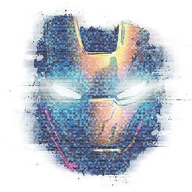 iCanvas Marvel Comics Iron Man, Digital Portrait Graphic Art on Canvas; 18'' H x 18'' W x 0.75'' D