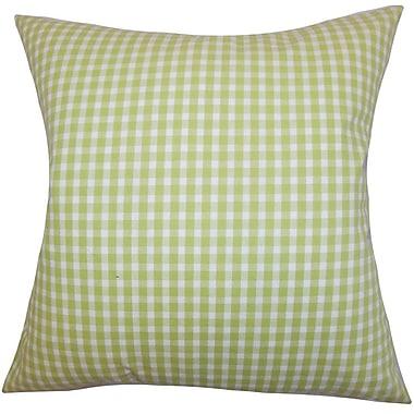 The Pillow Collection Hartley Plaid Cotton Throw Pillow Cover; 18'' x 18''