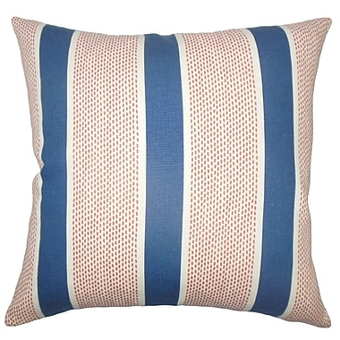 The Pillow Collection Bandele Striped Cotton Throw Pillow Cover; 20'' x 20''