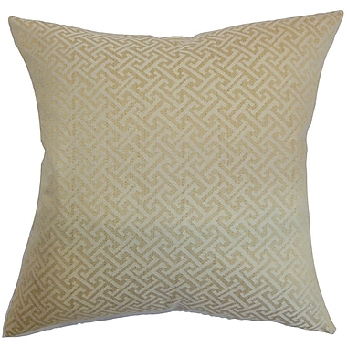 The Pillow Collection Karpathos Geometric Throw Pillow Cover; 18'' x 18''