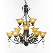 EverythingHome Versailles 12-Light Shaded Chandelier
