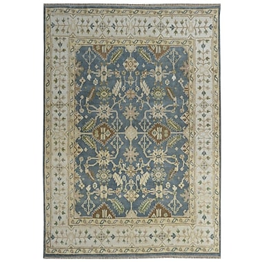 Wildon Home Serapis Hand-Knotted Blue/Brown Area Rug