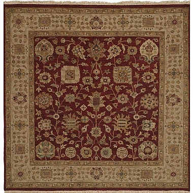 Wildon Home Hand-Knotted Red/Brown Area Rug