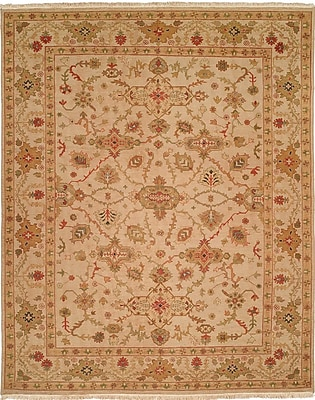 Wildon Home Hand-Knotted Beige Area Rug; 12' x 18'