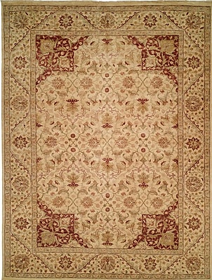 Wildon Home Hand-Knotted Beige Area Rug; 6' x 9'