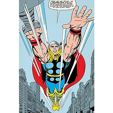 iCanvas Marvel Comics Thor: Let Me Travel as a Thunder God! Comic Book Graphic Art on Canvas