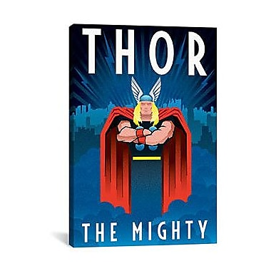 iCanvas Thor The Mighty Minimalistic Vintage Advertisement on Canvas; 40'' H x 26'' W x 1.5'' D