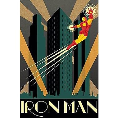 iCanvas Marvel Comics Iron Man Minimalistic Graphic Art on Canvas; 26'' H x 18'' W x 0.75'' D