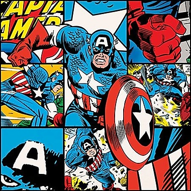 iCanvas Marvel Comics Captain America Collage Graphic Art on Canvas; 26'' H x 26'' W x 1.5'' D