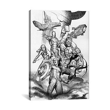 iCanvas Marvel Comics The Avengers & Loki Graphic Art on Canvas; 60'' H x 40'' W x 1.5'' D
