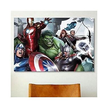 iCanvas Marvel Comics The Avengers & Loki, Close-Up Graphic Art on Canvas; 26'' H x 40'' W x 1.5'' D