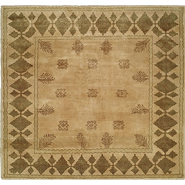 Wildon Home Hand-Knotted Beige/Brown Area Rug; 8' x 10'