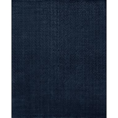Wildon Home Handwoven Blue Area Rug; 6' x 9'