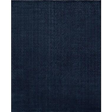 Wildon Home Handwoven Blue Area Rug; 8' x 10'