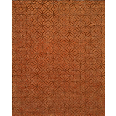 Wildon Home Handwoven Orange Area Rug; 8' x 10'