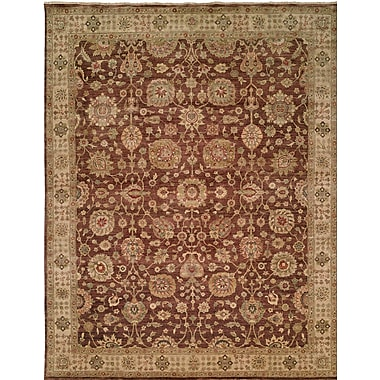 Wildon Home Hand-Knotted Brown Area Rug; Runner 2'6'' x 12'