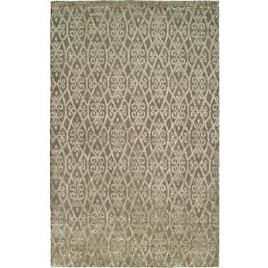 Wildon Home Hand-Woven Beige Area Rug; 4' x 6'