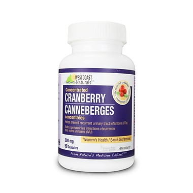 Westcoast Naturals – Canneberges, 3 bouteilles x 50 capsules