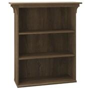 Bush Furniture Mission Creek 3 Shelf Bookcase, Rustic Brown (MCB136RB-03)