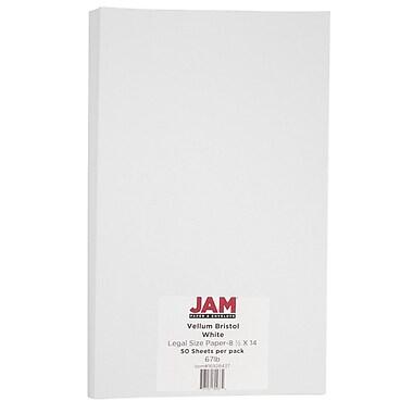 Jam PaperMD — papier cartonné, taille légale, vélin blanc, 50/paquet