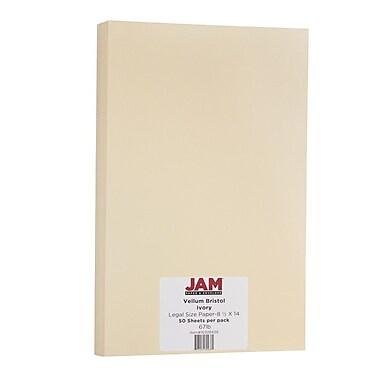 JAM Paper® Vellum Bristol Legal Cardstock, 8.5 x 14, 67lb Ivory, 50/Pack (16928438)