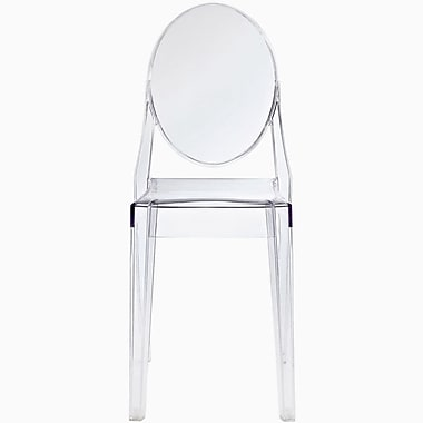 MacerHomeDecor Ghost Side Chair; Crystal Clear