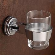 FECA Bathroom Wall Mount Swivel Adjustable Tumbler Holder; Chrome