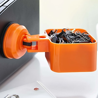 FECA Suction Cup Paper Clip Holder; Orange WYF078279218071