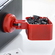 FECA Suction Cup Paper Clip Holder; Red