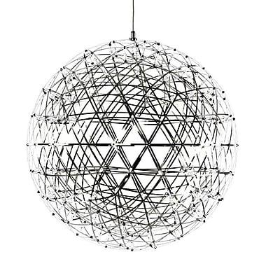 MacerHomeDecor Raimond Suspension 1 Light Globe Pendant; 19.7'' H x 19.7'' W x 19.7'' D