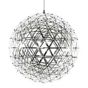 MacerHomeDecor Raimond Suspension 1 Light Globe Pendant; 17'' H x 17'' W x 17'' D