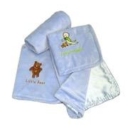 Satin Mill Little Snuggler Throw Blanket; Blue