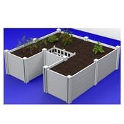 VitaGardens 6 ft. x 6 ft. Plastic Raised Garden Planter