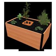 VitaGardens 5 ft. x 3 ft. Composite & Aluminum Raised Garden Planter