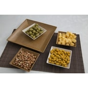 EVO Sustainable Goods 5 Piece Serving and Snack Tray Set; Light Brown